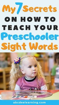 8 Easy Ways to Teach Sight Words to Preschoolers - ABCDee Learning