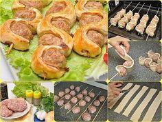 Mleté maso a listové těsto....... http://easydinnerrecipes101.com/appetizer/skewers-with-puff-pastry-recipe/ + (pinterest-1.str.16.)