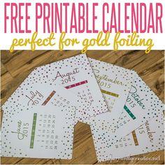 FREE PRINTABLE | Gold Foil Calendar