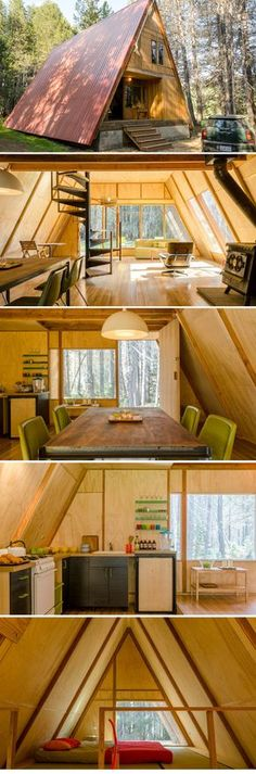 The Red A Frame, Yosemite, California http://www.boutique-homes.com/vacation-rentals/americas/united-states/the-red-a-frame-yosemite-california/