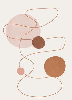 Abstract Modern Art 21 Art Print by flowline