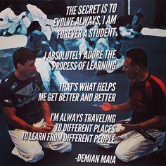 Renzo Gracie Demian Maia UFC BJJ Jiujitsu Brazilian Jiu Jitsu Grappling Quote