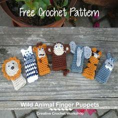 Wild Animal Finger Puppets   Creative Crochet Workshop