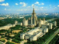 Russia, Moscow, Lomonosov Moscow State University Building started in 1949 and completed in 1953 Designed by Boris Iofan, later replaced by Lev Rudnev