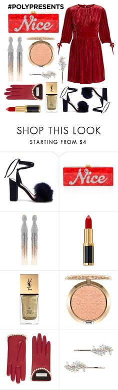 """Free Stuff: Enter to Win #PolyPresents All Month Long!"" by polyvore-editorial ❤ liked on Polyvore featuring Loeffler Randall, Edie Parker, Oscar de la Renta, Balmain, Yves Saint Laurent, MAC Cosmetics, Gucci, Forever 21, AlexaChung and polyPresents"