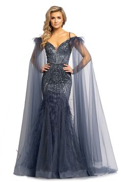 Mermaid Prom Dresses, Pageant Dresses, Beautiful Gowns, Gorgeous Dress, Stunning Dresses, Long Sleeve Evening Gowns, 1920s Evening Dress, Trumpet Dress, Fantasy Gowns