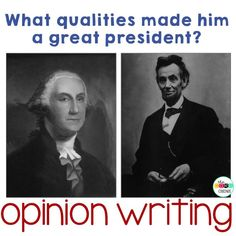 Start a presidential debate using these paired texts about Lincoln and Washington. Perfect for opinion writing!