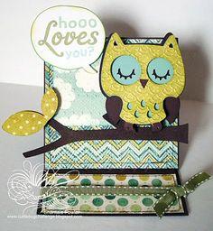 Oh my what have I stumbled onto now? Hoooo Loves You? Cricut card is tooo cute!