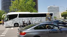 Real Madrid's official bus spotted in the streets of Madrid - Hala Madrid!      #2europeans #spain #españa  #madrid #europe #realmadrid #bus #fans #halamadrid #views #sun #happyday #amazingpic #nofilter #couple #hashtag #goals #instagram #picture  #lifestyle #travelphotography #travelgram #traveltheworld #trip #travelling #travel #world #worldtraveler #instalike #instagood