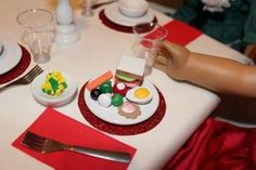 How to make food for American Girl dolls