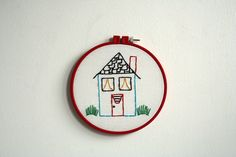 Hand Embroidery Hoop Rainbow Roost by Moxiedoll on Etsy