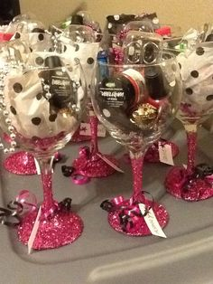Wine Glass Favors | 20 DIY Christmas Party Ideas for Adults