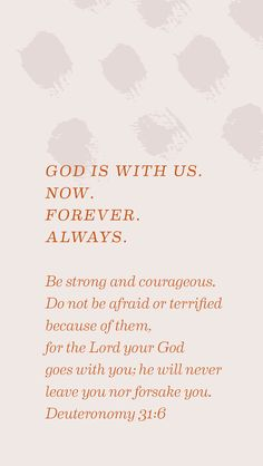 God is with you, walking beside you.