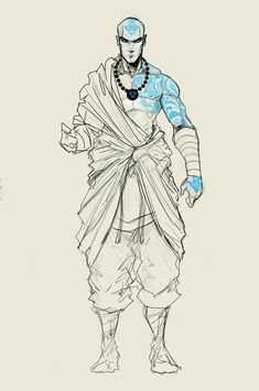 Pretty sure this is supposed to be a cross of Aang fro Avatar the last Airbender and Scar from Fullmetal Alchemist. Just a theory. Avatar Aang, Avatar The Last Airbender Art, Team Avatar, The Last Airbender Characters, Male Character, Character Concept, Concept Art, Arte Ninja, Culture Art