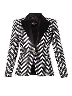 Balmain bi-color bouclé jacket