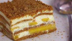 How to Make a Mango Float. A mango float is a delicious traditional Filipino dessert. Mango floats are quick, easy, and cheap to make. No baking necessary! Mango Float Filipino, Mango Float Recipe Filipino Desserts, Mango Graham Cake, Graham Flour, Cake Recipes, Dessert Recipes, Coconut Milk Recipes, Refreshing Desserts, Recipes