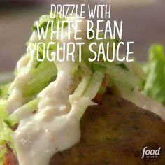Melissa makes tasty falafel with a white bean yogurt sauce.