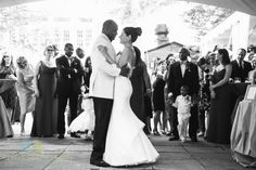 Sweetgrass Social wedding at The Gibbes Museum. Gena & Emil. Black and white picture of bride and groom.