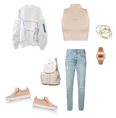 """""""Untitled #426"""" by selise-miles on Polyvore featuring Giuseppe Zanotti, WearAll, Levi's, ABS by Allen Schwartz, Sydney Evan and Topshop"""