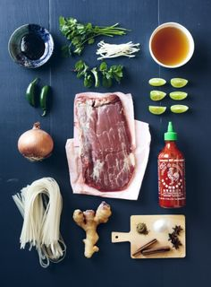 This picture of ingredients is simple and minimal. This is great for the reader because they can get an idea of how complicated a meal will be to prepare.