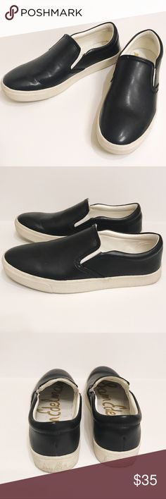 Sam Edelman Marvin Black Leather Slip On Sneakers Sam Edelman Marvin Black Leather Slip On Sneakers. Size 9. Excellent condition, worn less than 5 times. Sam Edelman Shoes Sneakers