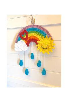 Crochet Decoration, Crochet Home Decor, Newborn Crochet, Crochet Baby, Baby Decor, Nursery Decor, Crochet Designs, Crochet Patterns, Rainbow Decorations
