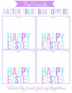 Hoppy easter bag toppers free printable simplykierste hoppy easter bag toppers free printable simplykierste easter pinterest easter bag toppers hoppy easter and bag toppers negle Images