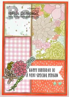 stampin up, card, stampin up demonstrator, stampin up demonstrator melbourne, stampin up independent demonstrator Melbourne, handmade, handmade card, classes in Skye Vic, foxy friends, oh so succulent, cut 3 make 4 cards