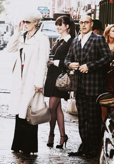 Meryl Streep, Anne Hathaway and Stanley Tucci being fabulous