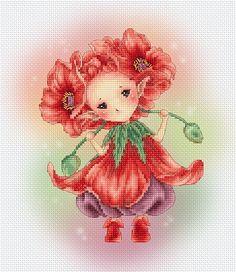 Kreuz Stich Chart Muster Blume Sprites von LenaLawsonNeedleArts                                                                                                                                                                                 Mehr