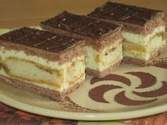 Picture of Recept - Krémové rezy s piškótami Czech Recipes, Ethnic Recipes, Croatian Recipes, Chocolate Truffles, Something Sweet, Graham Crackers, Sweet Recipes, Tiramisu, Sweet Tooth