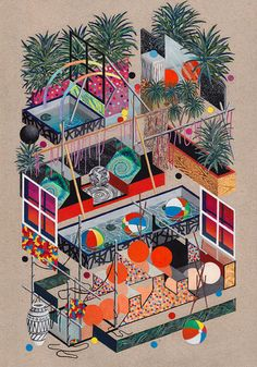 Multi-Level House Diagram by Benjamin Rawson