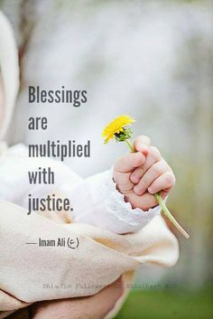 """Blessings are multiplied with justice.""  — Imam Ali (ع)"