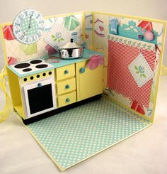 Artesanias Spell cards: Happy Fifties Kitchen in Marianne Doe19