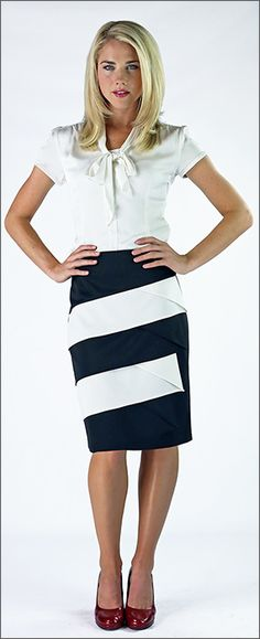 Diagonal Panel Skirt - this website is full of modest clothes!!! Their saying is reinventing modesty. Perfect! :)