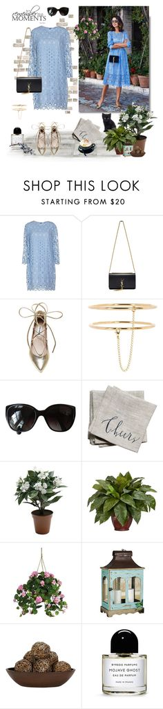 """Blue Dress"" by murenochek ❤ liked on Polyvore featuring Dondup, Garnier, Yves Saint Laurent, Steve Madden, STELLA McCARTNEY, Chanel, Linea Carta, Nearly Natural, Byredo and Blue"