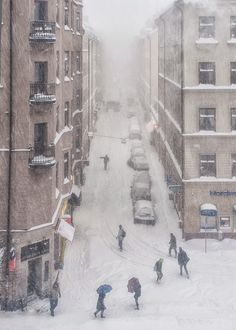 Stockholm • Sweden - Blizzard at SOFO - Photo by Danne Eriksson