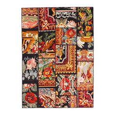 IKEA - SILKEBORG, Teppich flach gewebt, , Ein einzigartiges Produkt, geschaffen aus Abschnitten antiker handgewebter Orientteppiche aus der Türkei.Die Teppichstreifen werden gewaschen, gefärbt und zu einem neuen, modernen Kunstwerk zusammengefügt.