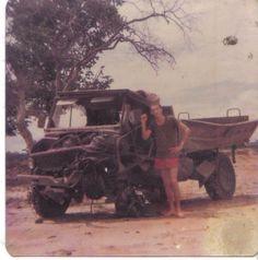 Unimog hit a landmine at the cut line Katima Kwando 77