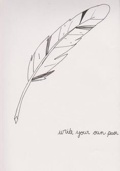 feather quill pen tattoo | Writing With A Feather Quill Near Bottle Of Ink By LoopyLand 62929