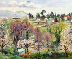 Swiss Landscape in Spring Henri Charles Manguin 1874-1949