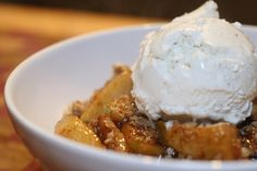 Apple Crisp with yellow cake mix  http://www.yummly.com/recipe/Cake-Mix-Apple-Crisp-Recipezaar