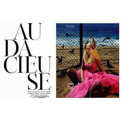 'Bold' Anna Ewers by Mert Marcus for Vogue Paris August 2014... ❤ liked on Polyvore featuring text, people and article