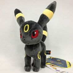 Eevee Evolution Umbreon Pokemon 8″ Anime Animal Stuffed Plush Plushies Doll Toys