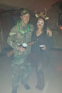 Halloween costume! A hunter And his deer!