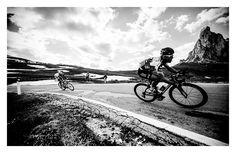 .......Cav descending from Passo di Giau, Stage 19, Giro 2012