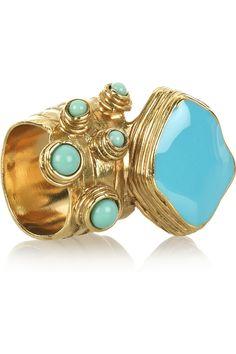 YSL Arty Enamel Ring, $195