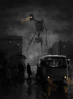 Bones Fantasy poster prints by Boris Groh Monster Concept Art, Monster Art, Dark Fantasy Art, Fantasy Artwork, Images Terrifiantes, Creepy Images, Arte Obscura, Mythical Creatures Art, Creepy Art