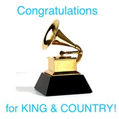 for KING & COUNTRY are Grammy winners X2!!! Congratulations Joel and Luke! Best Contemporary Christian Music Album: Run Wild. Live Free. Love Strong. -for KING & COUNTRY and Best CCM Song/Performance: Messengers with Lecrae @joelsmallbone