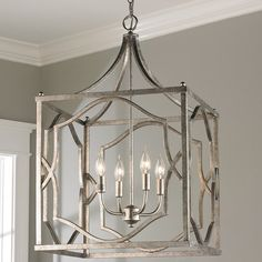 Modern Fretwork Cage Lantern - Medium